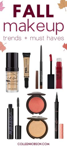 5 fabulous fall makeup trends to copy and the makeup products you need to pull them off. #fall #makeup #trends