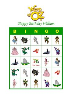 wizard of oz bingo