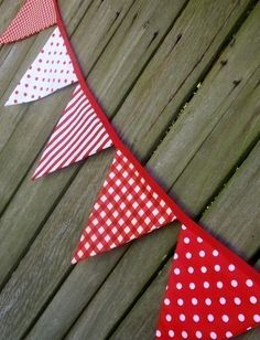Bunting / Flags / Pennant Strings Strawberries and by giggleberry, $36.00