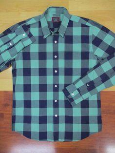 b25ad60ac3 UNTUCKit Slim Fit Blue & Green Plaid Button Front Long Sleeve Shirt -  Medium #fashion #clothing #shoes #accessories #mensclothing #shirts (ebay  link)
