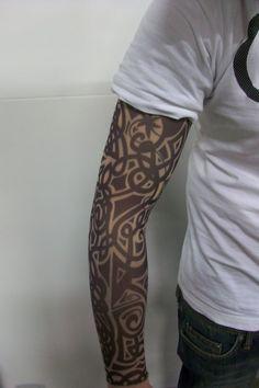 how to make a fake tattoo sleeve