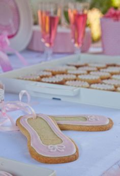 Ballerina shoes from Petit Gateau's Little Ballerina party. Photo by Daniel Layla