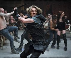 New TMI still features Jace fighting off vampires in Hotel Dumort with Clary, Simon and Alec in the background