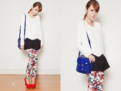 Emoda Leggings, Romwe Top, Lacoste Bag, Asian Vogue Heels