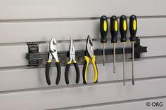 Magnetic tool bar for the garage - HomeORG.com