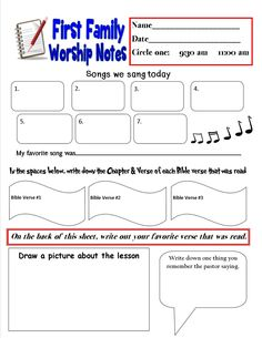 54 best sermon note templates images on pinterest children church first family worship notes 8 15 sermon notes notes template busy board maxwellsz