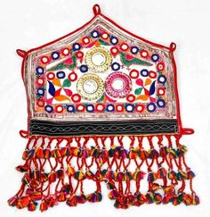 *** VINTAGE RABARI FINE HAND EMBROIDERY MIRROR OLD ETHNIC TRIBAL TASSEL PATCHES - $29.00 - February 3, 2016 - MINE! - ARGENTINA