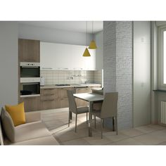 cucina e soggiorno open space contemporaneo soggiorno with colored ... - Soggiorno Cucina Open Space 30 Mq