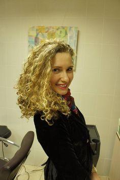 gorgeous perm in long hair