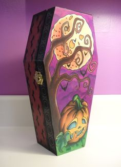 One Of Kind Large Wooden Coffin Box with by SoPerfectlyTwisted, $55.00