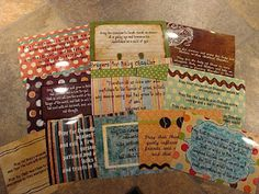adorable prayer cards for people to choose from. Print them on photo paper and even make a cover sheet to put them in a photo book. This is something so special to do at baby/wedding showers. Whoever wants to picks up a card and we spend a few minutes praying for the baby/bride & groom or baby shower