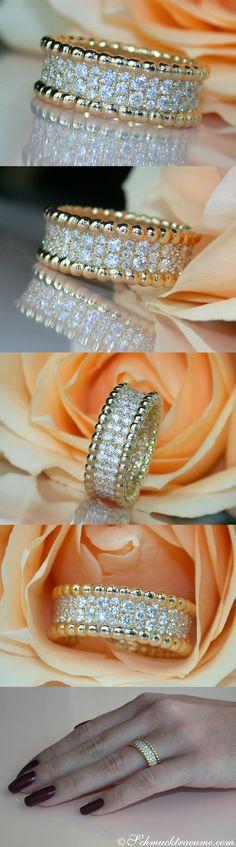 Gorgeous Diamond Eternity Ring, 1.29 ct. G-VS, YG-18K - Visit: schmucktraeume.com Like: https://www.facebook.com/pages/Noble-Juwelen/150871984924926