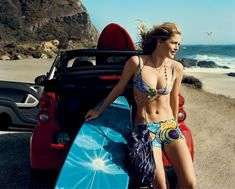 Vogue: The Iconic Models from the Pages of Vogue: Doutzen Kroes Photographed by Norman Jean Roy, Vogue, 2009 Doutzen Kroes, Norman Jean Roy, Pro Surfers, Soul Surfer, Surfer Dude, Surfs Up, Vogue Magazine, Famous Faces, Model Photos