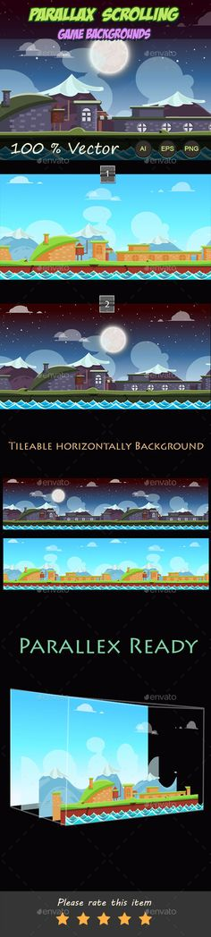 Parallax Scrolling Game Backgrounds (Transparent PNG, Vector EPS, AI Illustrator, CS, 1024x512, 2D game, android, app, app backgrounds, background, backgrounds, bg, flash bg, game, game assets, game background, game cartoon, game design, game landscape, ipad, iphone, landscape, landscapes, level, level game background, modern, mountains, nature)