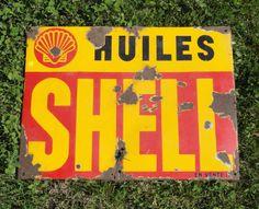 Shell Gas Station, Garage Signs, Old Signs, Vintage Metal, Vintage Antiques, Harley Davidson, Shells, Advertising, Posters