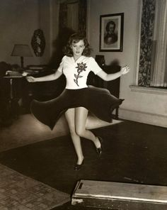"Judy Garland rehearsing the ""How About You"" dance number for ""Babes on Broadway"" (1941)"