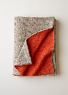 Double Knit Blanket | Purl Soho - Free pattern. Need to get back to knitting