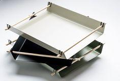 Designer Christina Liljenberg Halstrøm created the simple, yet elegant TRAY for Design Nation that's made out of a single sheet of metal