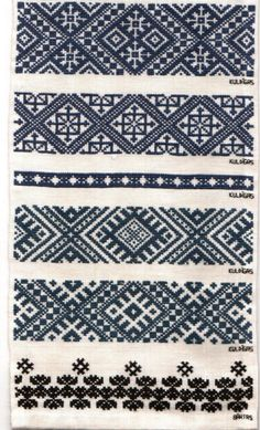 Latvian embroidery techniques by @Donna