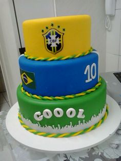 BOLO FAKE COPA 2014 -BRASIL PARA ALUGUEL OU VENDA CONTATO  013- 988307417 /982231071 Bolo Fake Eva, Birthday Cake, Desserts, Inspiration, Real Madrid, Food, Kids Part, Art Cakes, Birthday Cakes