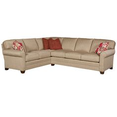 King Hickory Bentley Right Sofa/Left Corner Sofa Sectional KH-4462-53-F