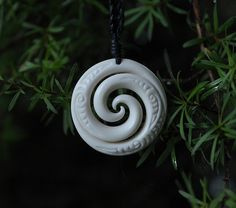 """Union Pendant carved in Bone Symbolising """"Two"""" by JackieTump on Etsy"""