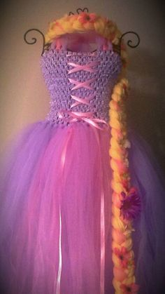 Rapunzel Tangled Tutu Dress Disney Princess Tutu by LanYapCrafts