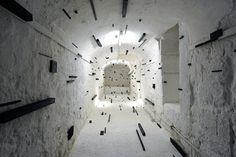 Esther Stocker - art installations that alter your perceptions of spatial reality