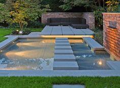 Outdoor Patio Lounge Above Water Garden Design – a new concept of architecture, … - Modern Modern Landscape Design, Garden Landscape Design, Modern Landscaping, Outdoor Landscaping, Landscaping Design, Landscaping Plants, Water Features In The Garden, Garden Features, Dream Garden