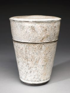 Collection: Danish Ceramics  Artist: Thyge Thomasen, Denmark, born 1957  Medium: stoneware, Raku glazed and fired  Object Type: jar with cover