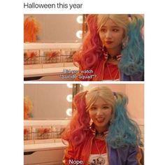 Well every girl at my school.  #kpopmemes#suicidesquad#kpop#sana#twice#halloween#l4l #kpopmeme#harleyquinn#meme