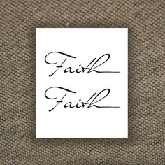 Two Temporary Faith tattoos by Tattoorary on Etsy, $6.00