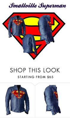 """""""Smallville Superman Jacket"""" by lara-emon ❤ liked on Polyvore featuring men's fashion and menswear"""