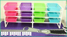 Math Tub Center! DIY! PVC Pipe and baskets create a differentiated math center system!!