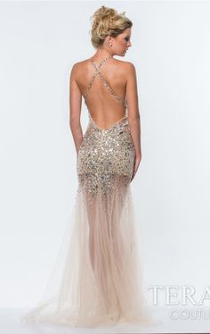Beaded Open Back by Terani Couture Prom Item #1057 by Dave and Johnny (Spring, 2015)