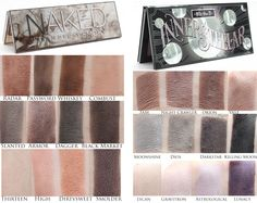 Urban Decay Naked Smoky vs. Kat Von D Innerstellar. See more at Phyrra.net!