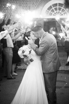 bride and groom kiss, sparkler exit, sparkler getaway   Abby Grace Photography