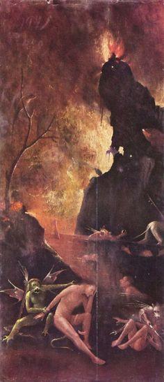 Bosch, Hieronymus: Die Rast am Höllenfluss