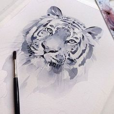 🎨 Watercolorist: @kadantsevanatalia #waterblog #акварель #aquarelle #painting #drawing #art #artist #artwork #painting #illustration #watercolor #aquarela Watercolor Paintings Of Animals, Art Watercolor, Animal Paintings, Watercolor Illustration, Animal Drawings, Art Drawings, Lion Art, Art Graphique, Fauna