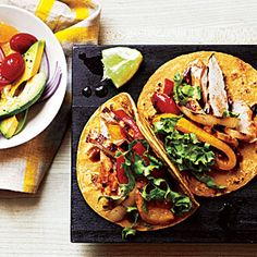 Garlic-Chipotle Chicken Tacos | MyRecipes.com