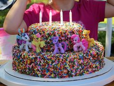 Cricket's Creations: My Little Pony Sprinkle Cake