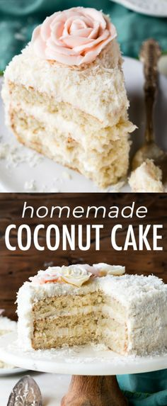 Fluffy and moist coconut cake! This coconut layer cake features shredded coconut. - Fluffy and moist coconut cake! This coconut layer cake features shredded coconut, coconut milk, and - Delicious Cake Recipes, Yummy Cakes, Yummy Food, Cupcakes, Cupcake Cakes, Cake Oven, Donut Party, Mary Berry, Oreo Cake