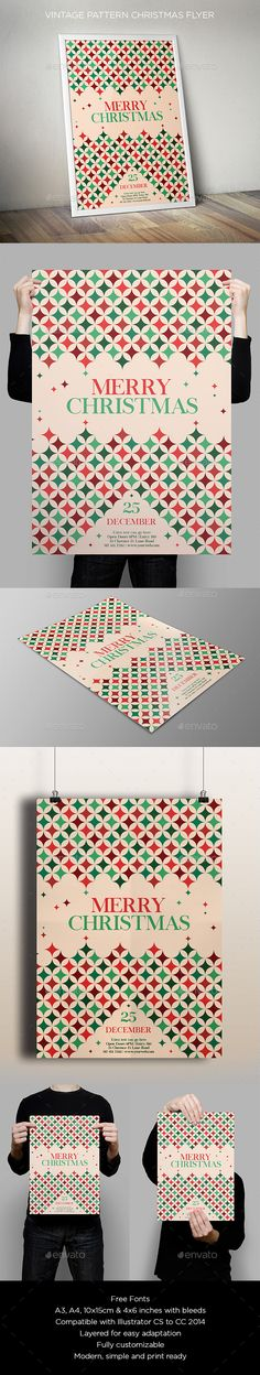 Christmas Graphic Design, Christmas Flyer Template, Christmas Poster, Merry Christmas, Christmas Graphics, Grafik Design, Holidays And Events, Flyer Design, Print Design