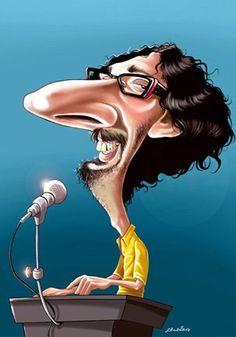 El cantautor y músico argentino Fito Páez caricaturizado por el artista Fabian… Caricatures, Soda, Wonder Woman, Superhero, Interior, Fictional Characters, The World, Musica, Authors