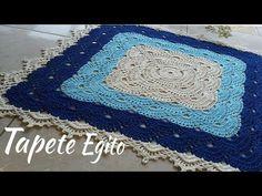 "Tɑpete Egito ""Tutoriɑl Edilene Fitipɑldi"" - YouTube Crochet Designs, Crochet Patterns, Crochet Carpet, Crochet Diagram, Crochet Videos, Floor Rugs, Free Pattern, Diy And Crafts, Projects To Try"