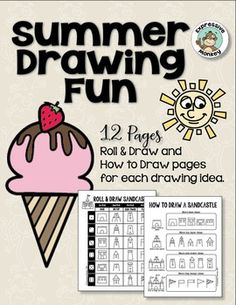 It's finally summer! Summer is a great time to encourage your students to draw. Drawing fun, relaxing, and a great way to show what you did over the summer. These pages will help your students draw some fun images from summer. Encourage your students to fill in the backgrounds using their imagination to tell a visual story.