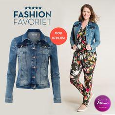 Blauw jeans jasje met lange mouwen en een kraagje. Het denim jack sluit met knopen en heeft borstzakjes. Voorzien van een vintage wassing. #missetam