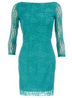 Summer lace tapered dress.