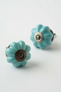 Ceramic Melon Knob, Aqua - eclectic - knobs - other metro - Anthropologie Knobs And Knockers, Knobs And Handles, Knobs And Pulls, Drawer Pulls, Door Handles, Dresser Knobs, Cabinet Knobs, Door Knobs, Ikea Dresser