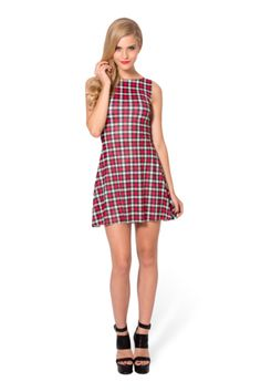 Gingham red playdress - L